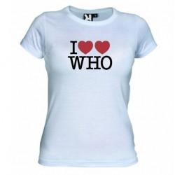 Dámské tričko I love Doctor Who tardis bílé