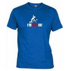 Pánské tričko I m all in modré