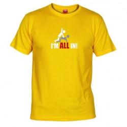 Pánské tričko I m all in žluté