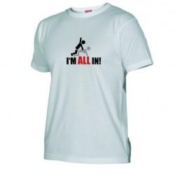 Pánské tričko I m all in bílé