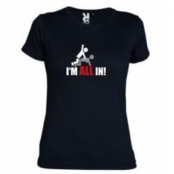 Dámské tričko I m all in černé