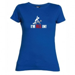 Dámské tričko I m all in modré