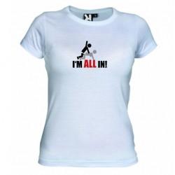 Dámské tričko I m all in bílé