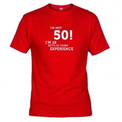 Pánské tričko I m not 50 červené