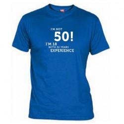Pánské tričko I m not 50 modré