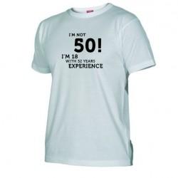Pánské tričko I m not 50 bílé