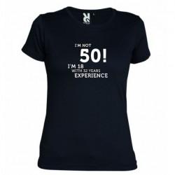 Dámské tričko I m not 50 černé