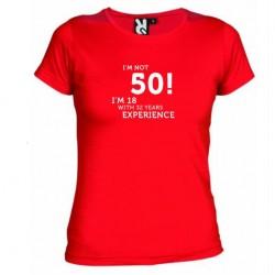 Dámské tričko I m not 50 červené