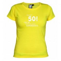 Dámské tričko I m not 50 žluté