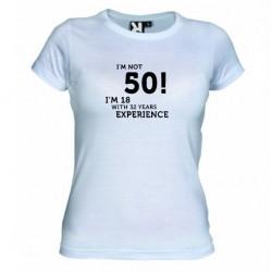 Dámské tričko I m not 50 bílé