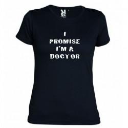 Dámské tričko I promise i m a doctor černé