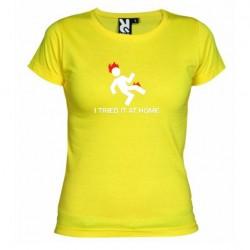 Dámské tričko I tried it at home žluté