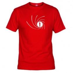 Pánské tričko James Bond červené