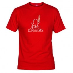 Pánské tričko Jedi master červené