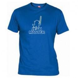 Pánské tričko Jedi master modré