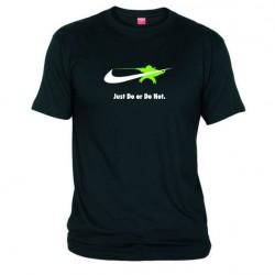 Pánské tričko Just do or do not černé