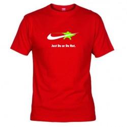 Pánské tričko Just do or do not červené