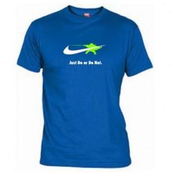 Pánské tričko Just do or do not modré