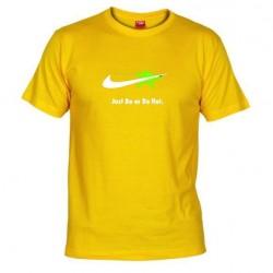 Pánské tričko Just do or do not žluté