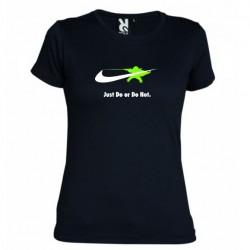 Dámské tričko Just do or do not černé