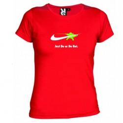 Dámské tričko Just do or do not červené