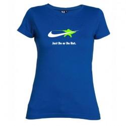 Dámské tričko Just do or do not modré