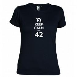 Dámské tričko Keep calm and 42 černé