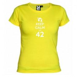Dámské tričko Keep calm and 42 žluté