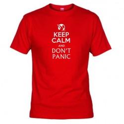 Pánské tričko Keep calm and DON´T PANIC červené