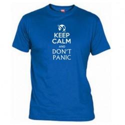 Pánské tričko Keep calm and DON´T PANIC modré