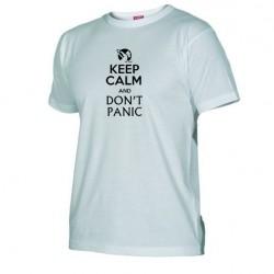Pánské tričko Keep calm and DON´T PANIC bílé