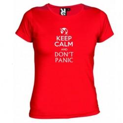 Dámské tričko Keep calm and DON´T PANIC červené
