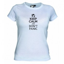 Dámské tričko Keep calm and DON´T PANIC bílé