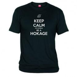 Pánské tričko Keep calm and i´m gonna be a hokage černé