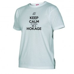 Pánské tričko Keep calm and i´m gonna be a hokage bílé