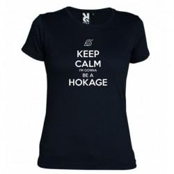 Dámské tričko Keep calm and i´m gonna be a hokage černé