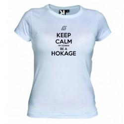 Dámské tričko Keep calm and i´m gonna be a hokage bílé