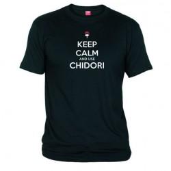 Pánské tričko Keep calm and use chidory černé