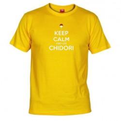 Pánské tričko Keep calm and use chidory žluté