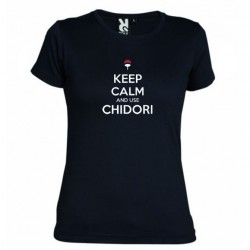 Dámské tričko Keep calm and use chidory černé