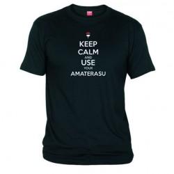 Pánské tričko Keep calm and use your amaterasu černé