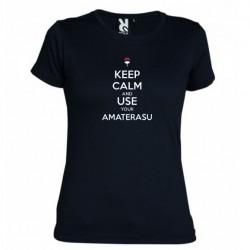 Dámské tričko Keep calm and use your amaterasu černé