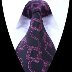 Hedvábná kravata černá LD0678