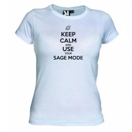 Dámské tričko Keep calm and use your sage mode bílé