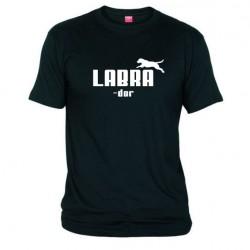 Pánské tričko Labrador černé