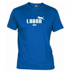 Pánské tričko Labrador modré