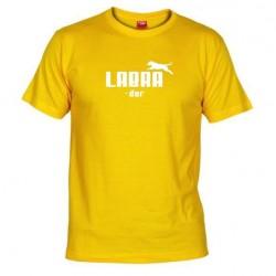 Pánské tričko Labrador žluté