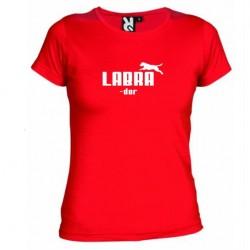 Dámské tričko Labrador červené
