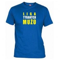 Pánské tričko Liga týraných mužů modré