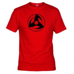 Pánské tričko Mangekyou Sharingan Kakashi červené